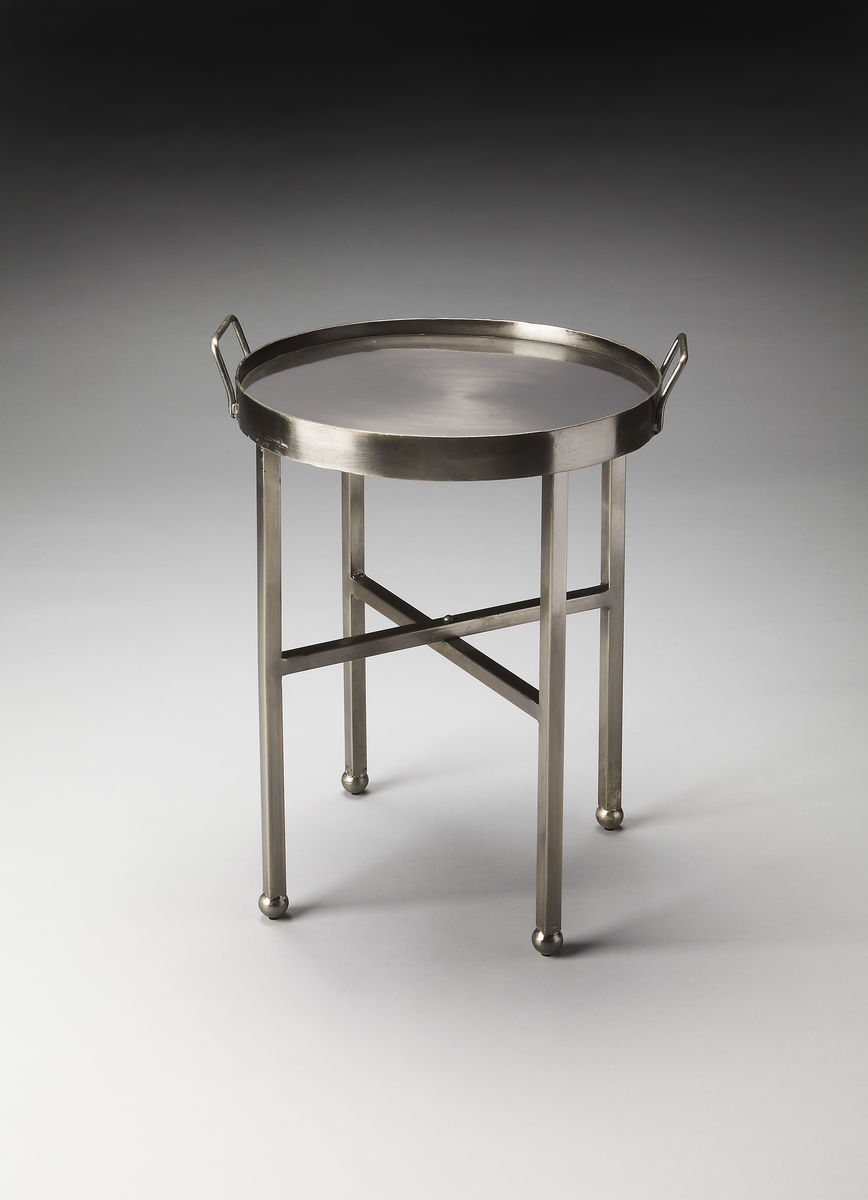 Galad Industrial Accent Table