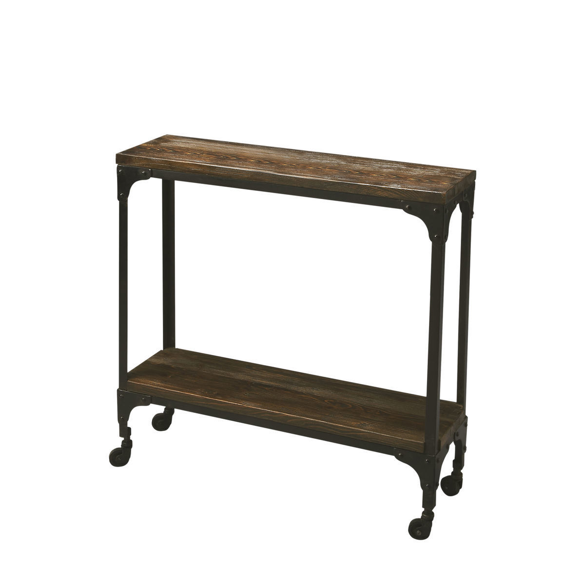 Planked Industrial Console Table 2873120