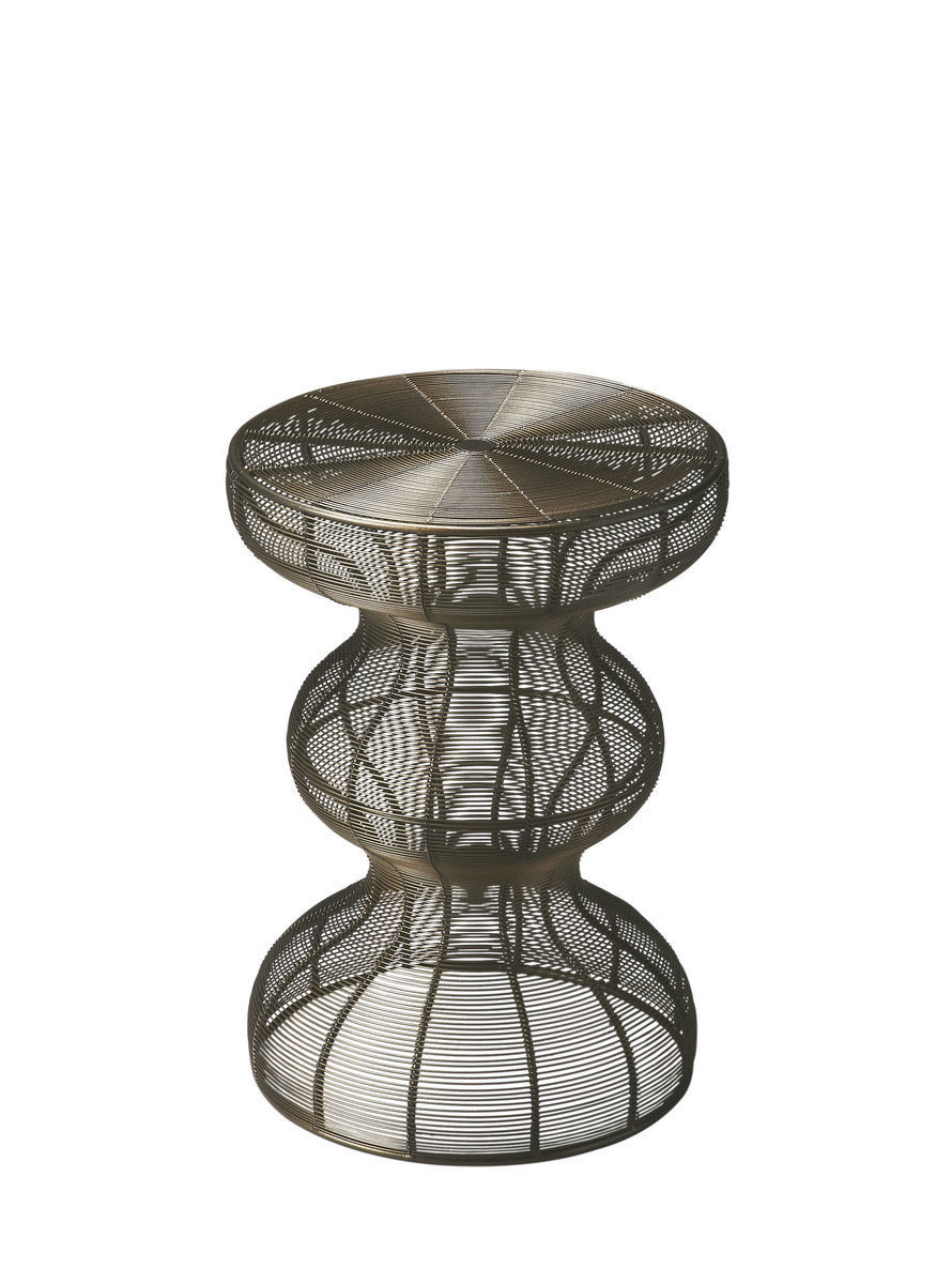 Curvy Industrial Accent Table 2895025