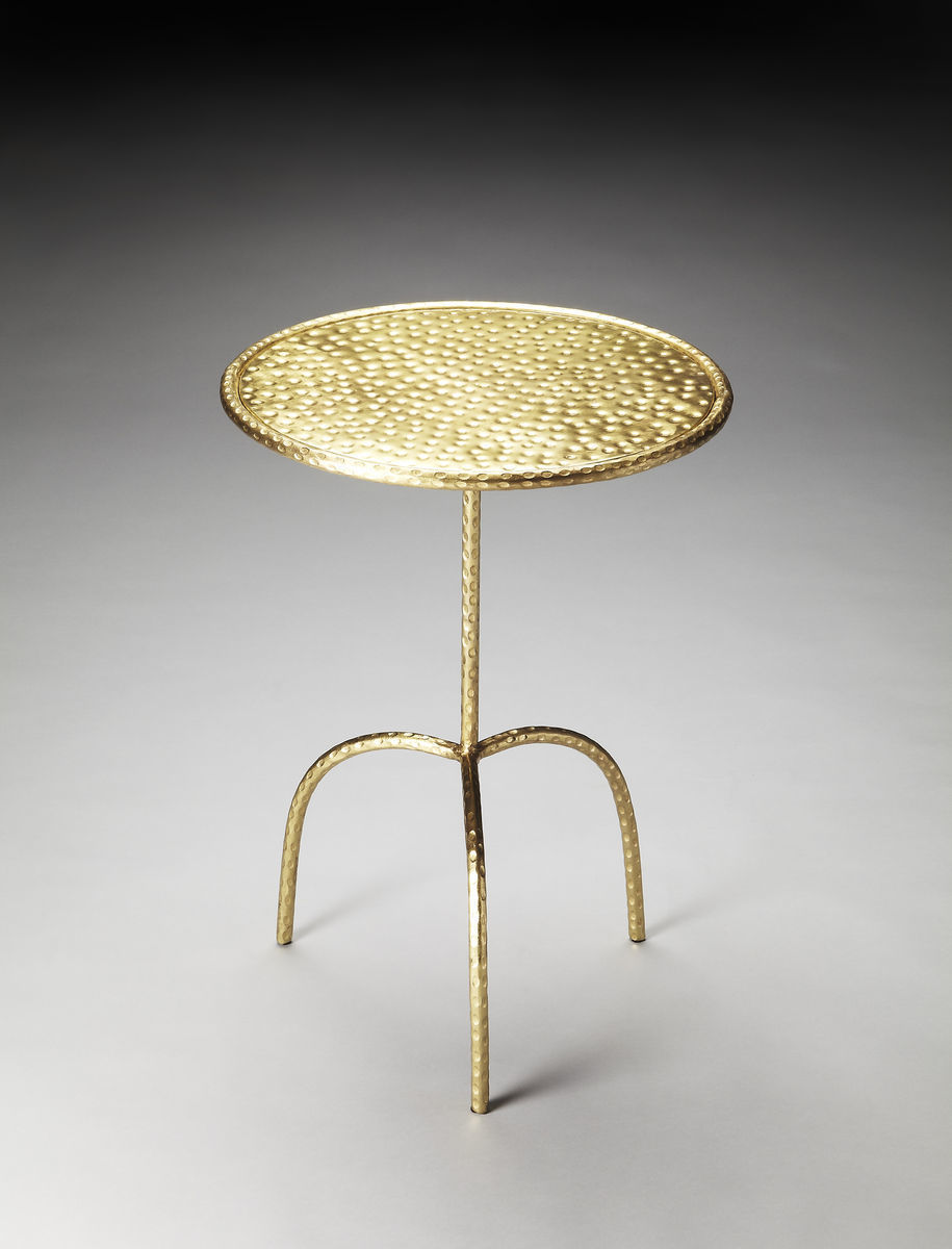 Founders Brass Pedastal Table