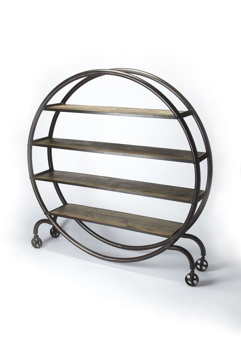 Orion Industrial Round Bookcase