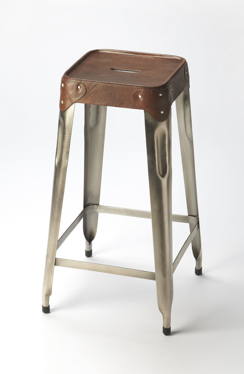 Hooded Industrial Counter Stool 6134344