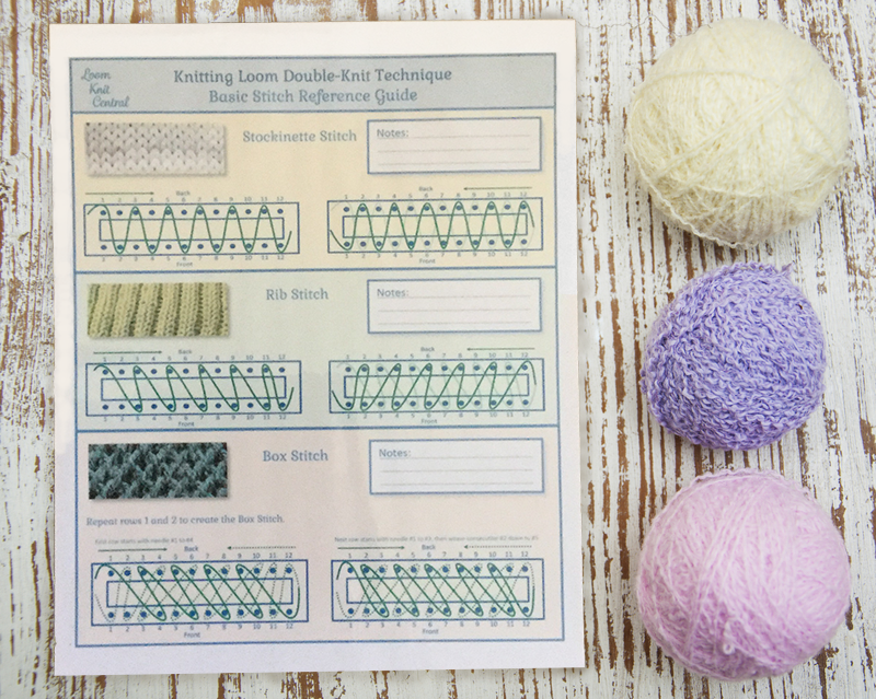 Basic Loom Knit Stitch Reference Guide 00010