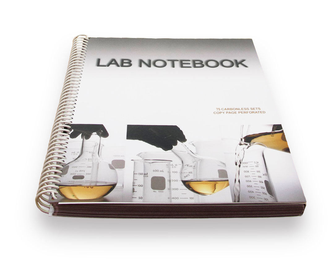 lab notebook 75 pages spiral bound  copy page perforated