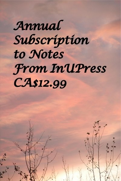 Notes from InUPress, Annual Subscription, e-delivered IUPsub17001a