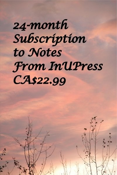 Notes from InUPress, 24 month Subscription, e-delivered IUPsub1700224m