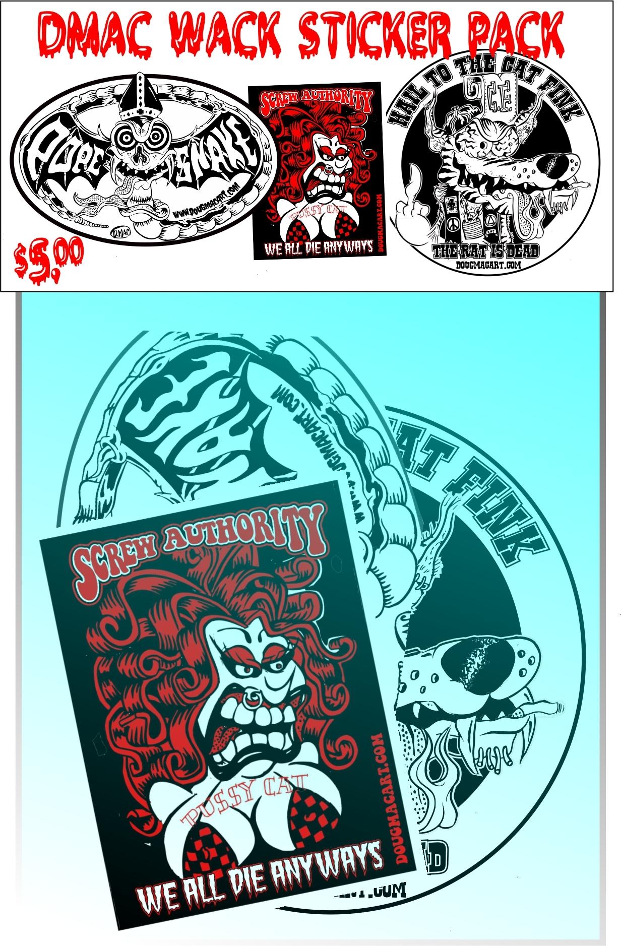 DMac Wack Sticker Pack 00060