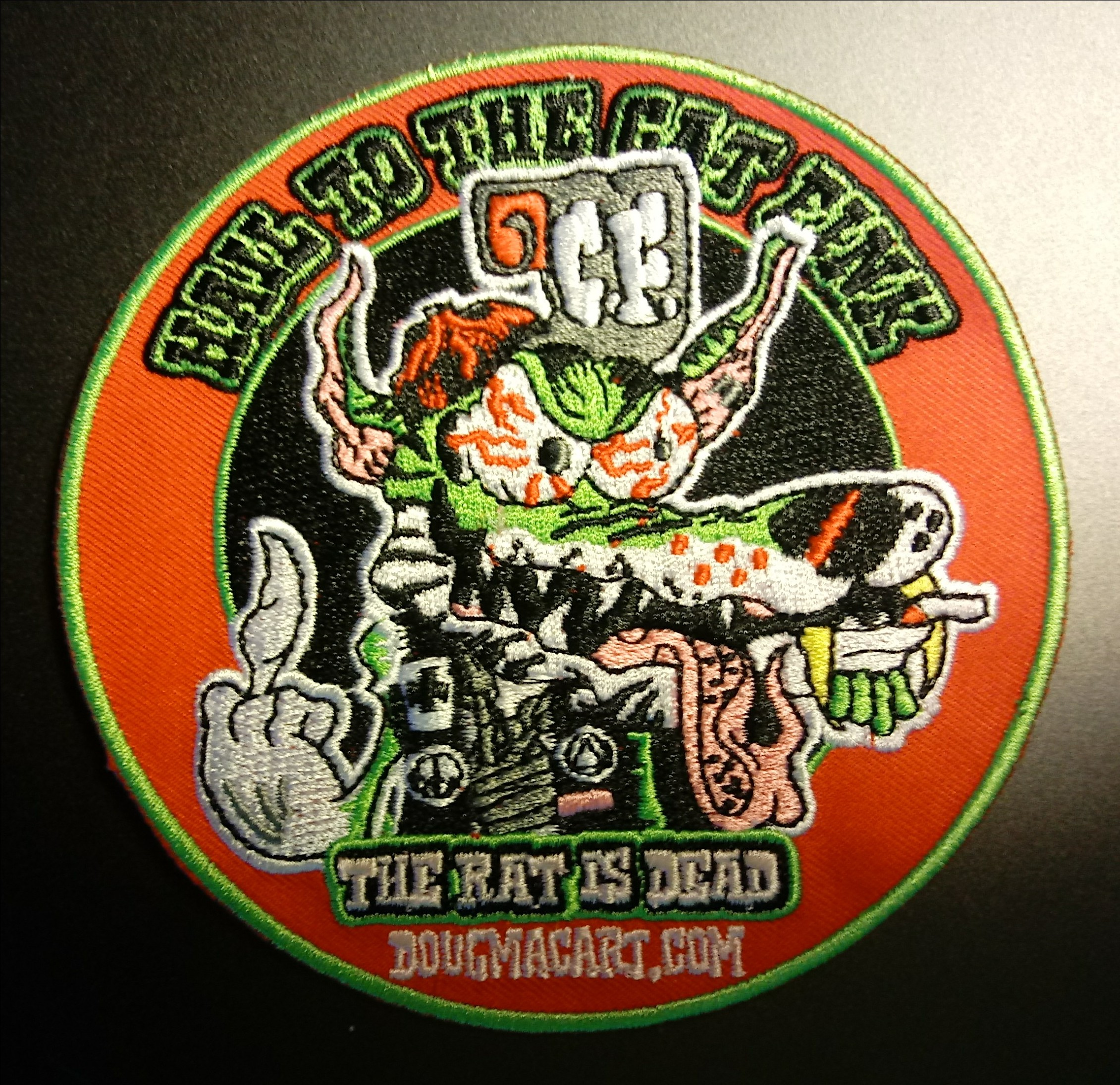 "cat fink embroidered patch 5"" 00065"