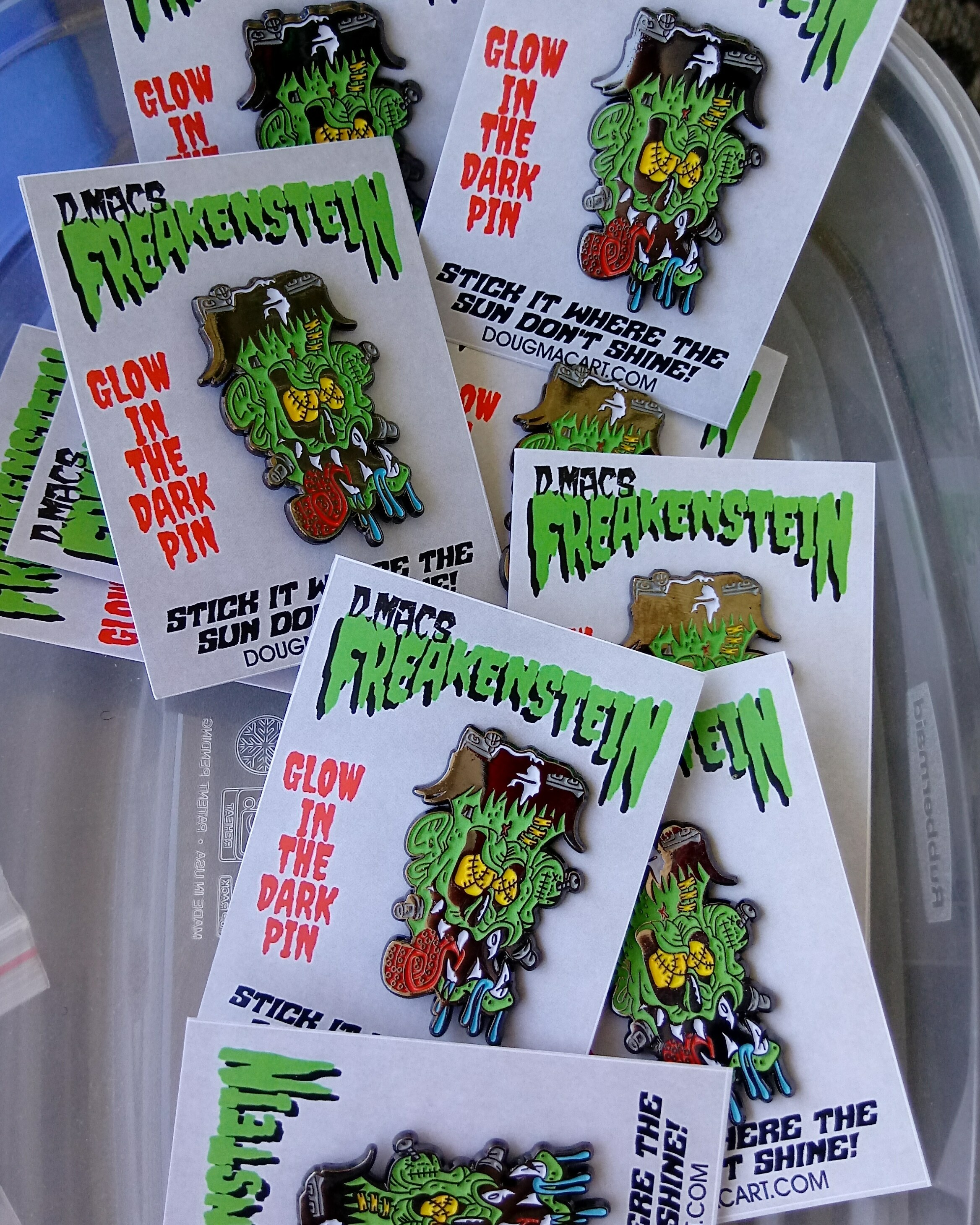 Freakenstein Glow In The Dark Pin 00069