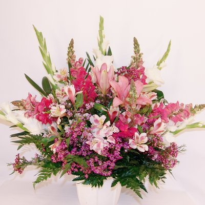 Pink Poise Sympathy Vase