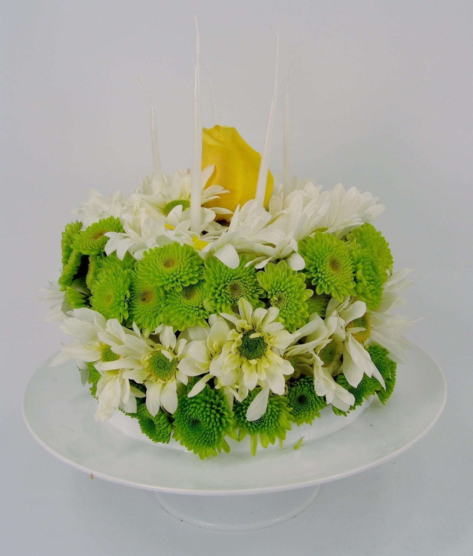 Yellow Rosebud's Awaaay! (Floral Cake)