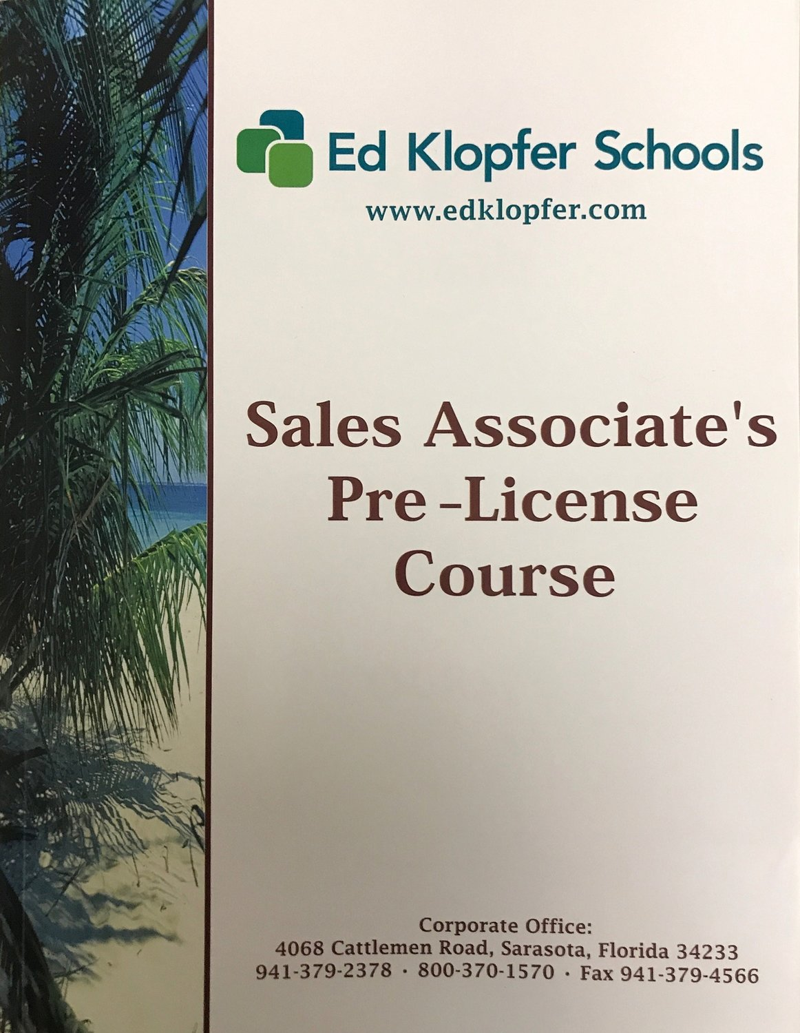 Online Sales Associates Pre License Textbook For Course You Have