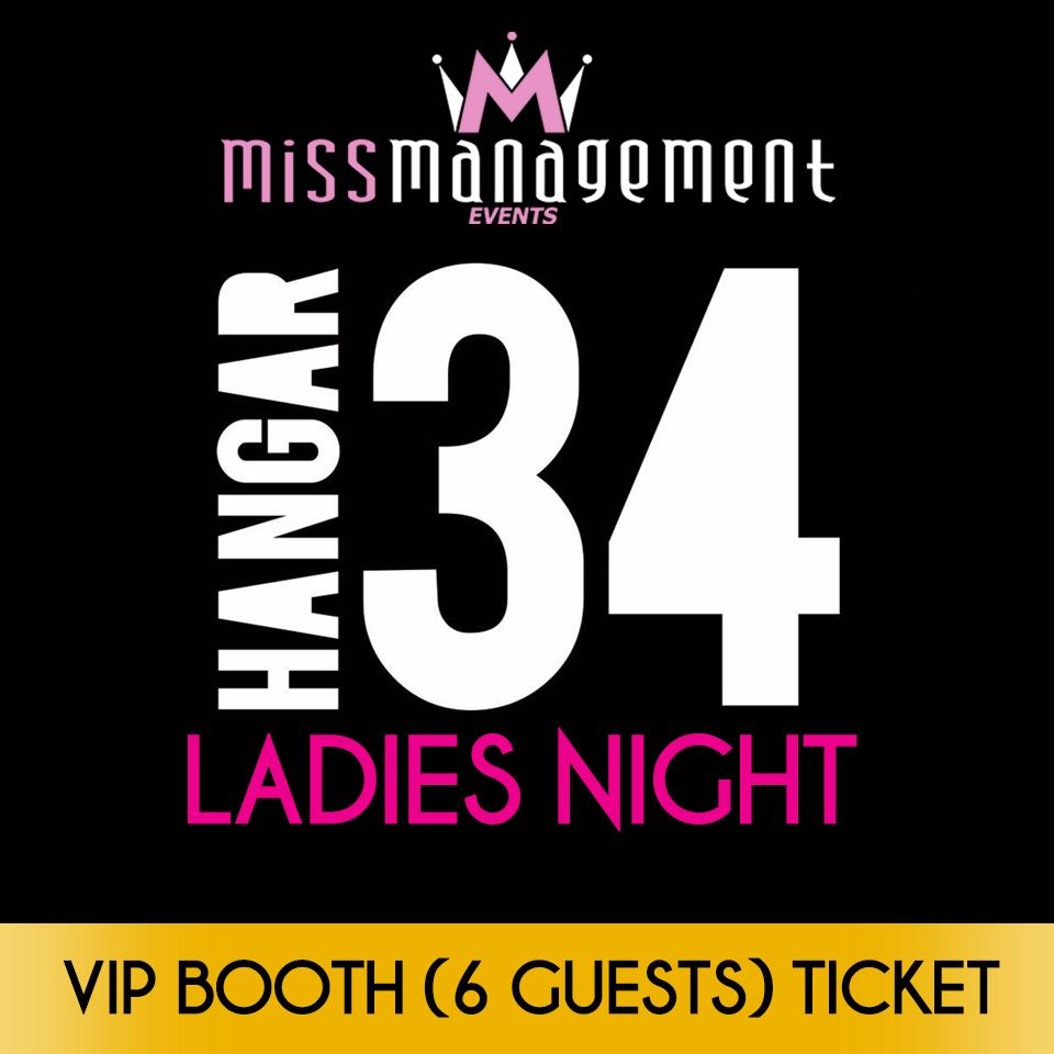 (HA02) VIP/BOOTH (6) - '1980s Theme' Ladies Night at Hangar34 - Friday 26th May
