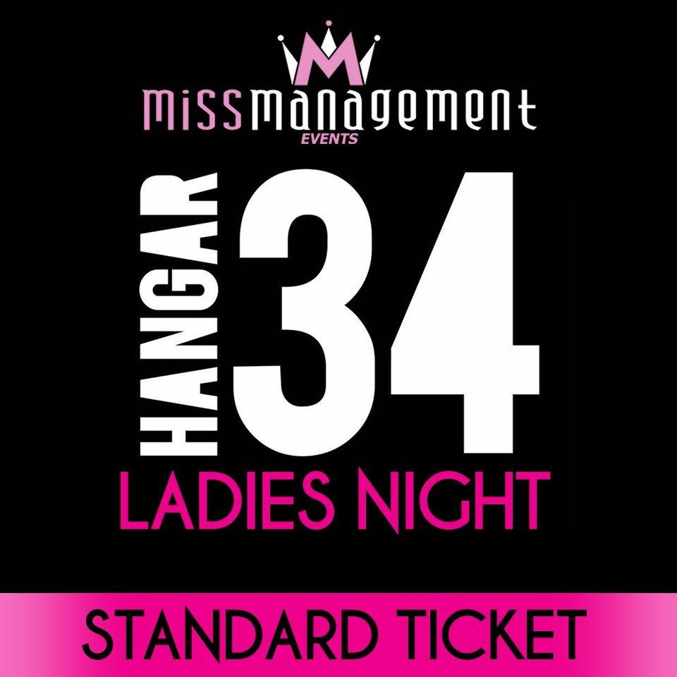 (HA01) STANDARD TICKET - '1980s Theme' Ladies Night at Hangar34 - Friday 26th May