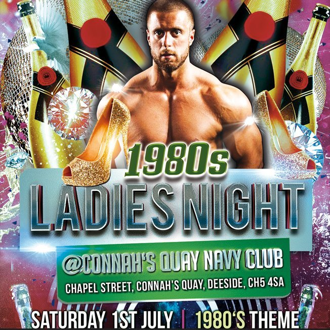 (MM12) '1980s Theme' Ladies Night (Connah's Quay) Saturday 1st July