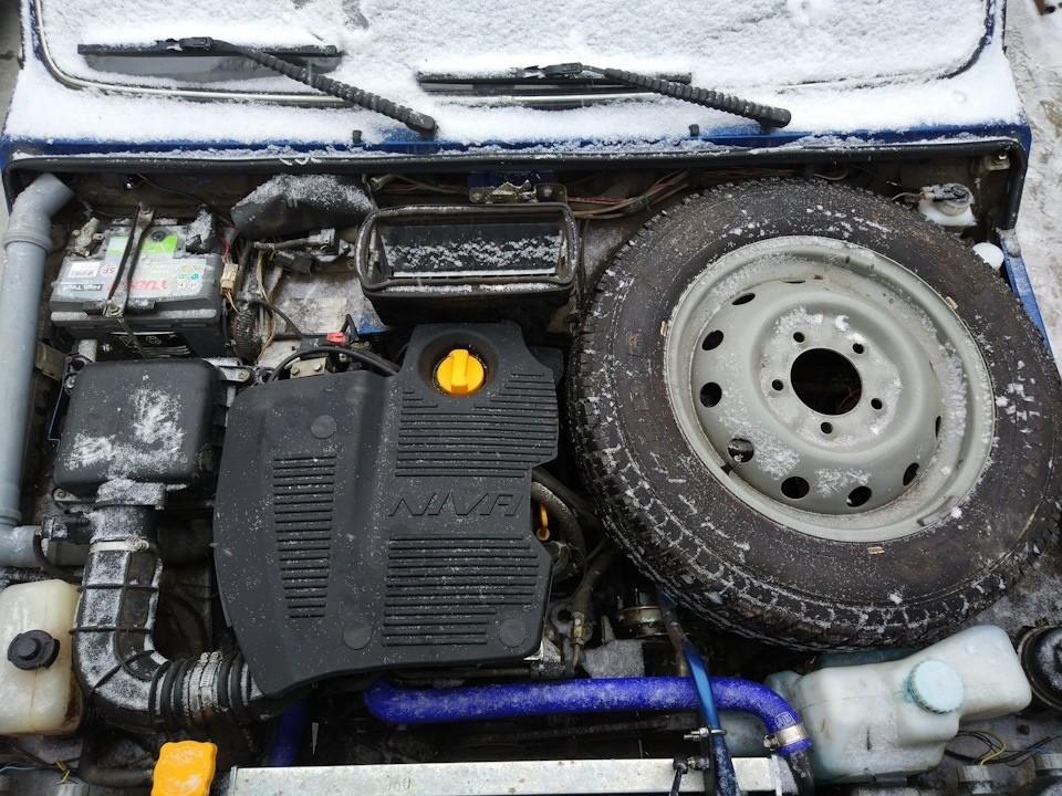 """Крышка двигателя Лада 4х4. Защита и в бездорожье, и классная """"Тюняшка""""  (инжектор)"""