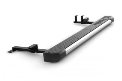 Защита порогов  с пластиковой площадкой на всю длину (Ø трубы 63 мм)