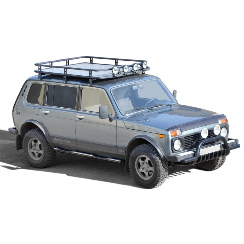 Багажник экспедиционный «Трофи» с алюминиевым листом, 2131