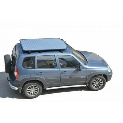 Багажник - платформа экспедиционный «Трофи» с алюминиевым листом 2123 «Шеви»