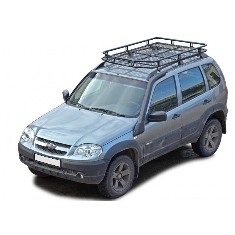 Багажник экспедиционный «Трофи» с сеткой, (на рейлинги) 2123 «Шеви»