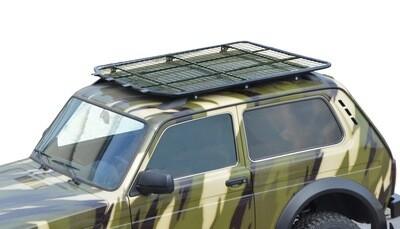 Багажник- платформа экспедиционный «Трофи»  с сеткой или с площадкой (монтаж на рейлинги) 4х4 «Нива»  БРОНТО