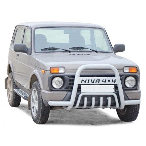 Дуга передняя «Нива 4х4» с усами и дополнительной защитой двигателя Диаметр=63,5, Lada 4x4 Urban