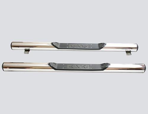 Пороги «Труба с проступью», Диаметр трубы 76мм, нержавейка, 2131 (к-т)