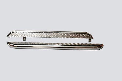 Пороги с алюминиевым листом, Диаметр трубы=63,5мм, (нержавейка) 2131 (комплект)