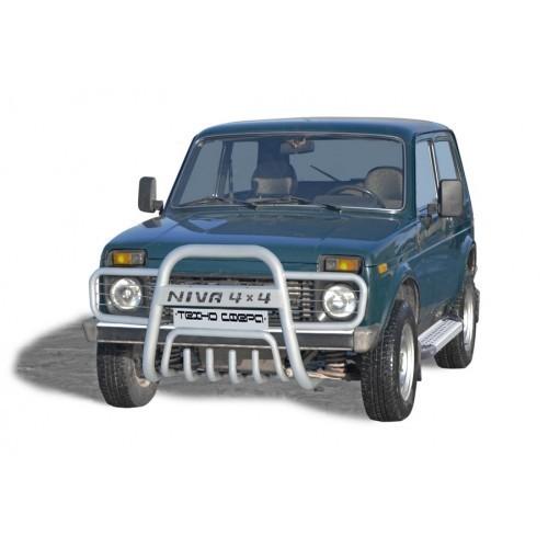 Дуга передняя «Нива 4х4 прямая с ушами» с дополнительной защитой двигателя Диаметр=63,5 21214-31 «Нива»