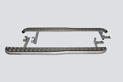 Пороги с алюминиевым листом с перегибом, 2123 «Шеви»