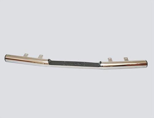 Защита заднего бампера «Труба с проступью» (Ø=76 мм), 2123 «Шеви» (нержавеющая сталь)