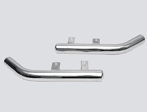 Защита заднего бампера «Уголки», цельные (Ø=63,5 мм), 2123 «Шеви» (нержавеющая сталь)