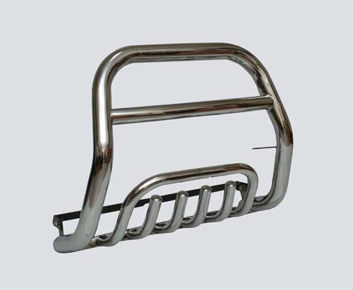 Передок с дополнительной защитой двигателя «Труба сверху» (Ø=63,5 мм), 2123 «Шеви» (нержавеющая сталь)