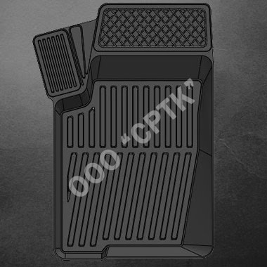 """Автомобильные коврики (резиновые) """"Люкс"""" для Chevrolet NIVA (к-т)"""