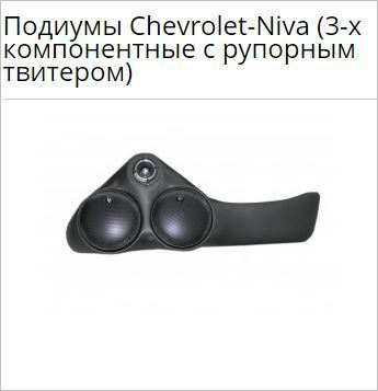 Подиумы Chevrolet-Niva (3-х компонентные с рупорным твитером)