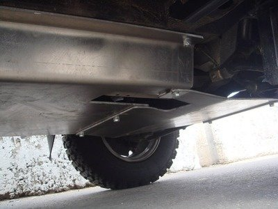 Защита коробки передач (дюралюминиевая, толщиной 5 мм)