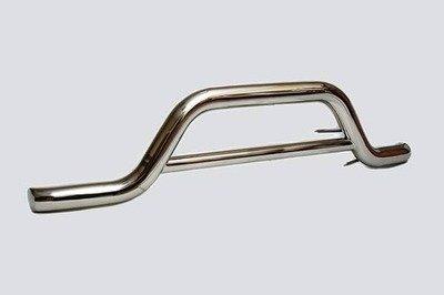Защита переднего бампера «Волна» (Ø=63,5 мм), 2123 «Шеви» (нержавеющая сталь)