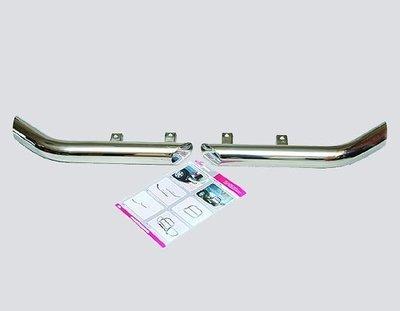 Защита заднего бампера «Уголки Люкс», цельные (Ø=63,5 мм), 2123 «Шеви» (нержавеющая сталь)