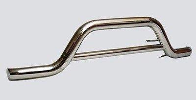 Защита переднего бампера «Волна» (Ø=76 мм), 2123 «Шеви» (нержавеющая сталь)