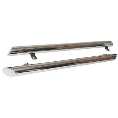 Пороги «Труба Люкс» (Ø=76 мм), 2123 «Шеви» (нержавеющая сталь) RS