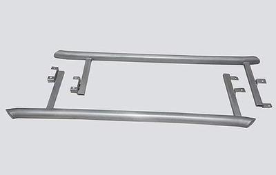 Пороги «Труба изогнутая», 2123 «Шеви» (нержавеющая сталь) RS