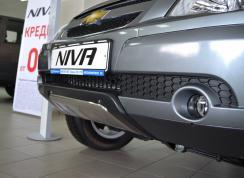 Декоративная защита переднего бампера Chevrolet Niva