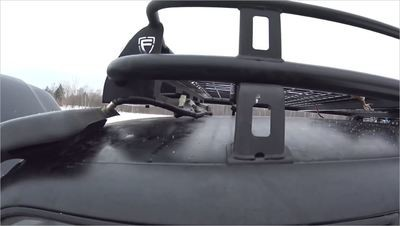 Электрические жгут для установки двух фар, на экспедиционном багажнике