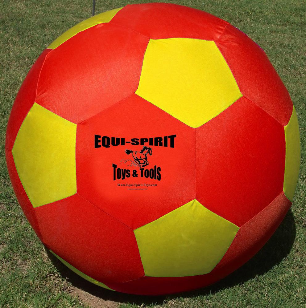 Equi-Spirit 40 inch ULTIMATE Cordura Ball Red/Yellow
