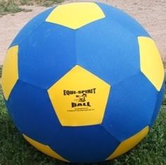 "Equi-Spirit 25"" Ultimate Cordura Ball Blue/Yellow"