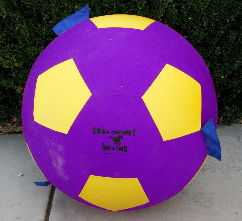 "40"" Equi-Spirit Ultimate Grab & Toss Cordura Ball Purple/Yellow"