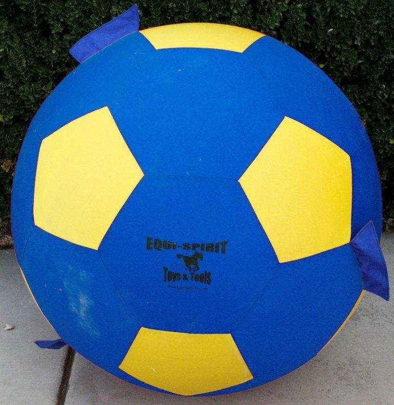 "40"" Equi-Spirit Ultimate Grab & Toss Cordura Ball Blue/Yellow"