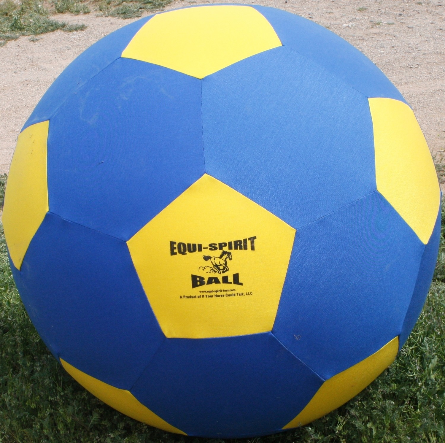 Equi-Spirit 40inch ULTIMATE Cordura Ball Blue/Yellow