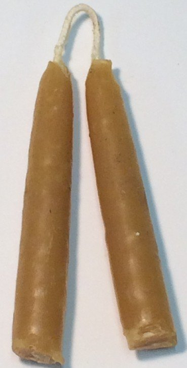 "4"" Handmade Beeswax Taper Candles, $19"