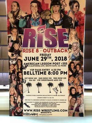 RISE 8 - OUTBACK Signed Poster
